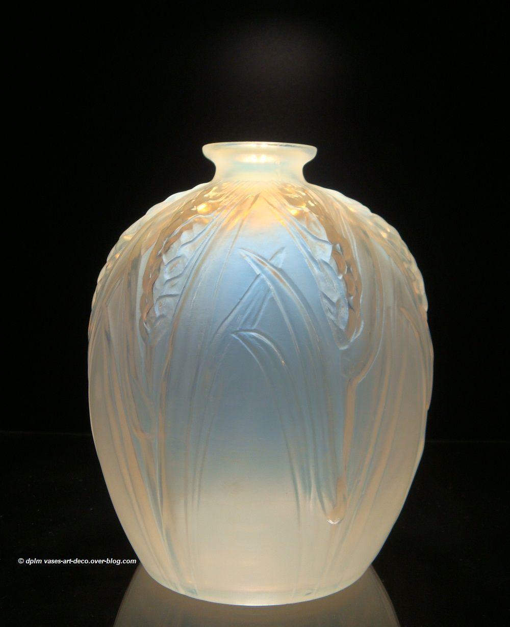 """Vase Ovoïde opalescent """"Les Blés"""""""