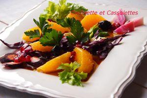 Salade de Chou Rouge et d'Oranges, Tonique