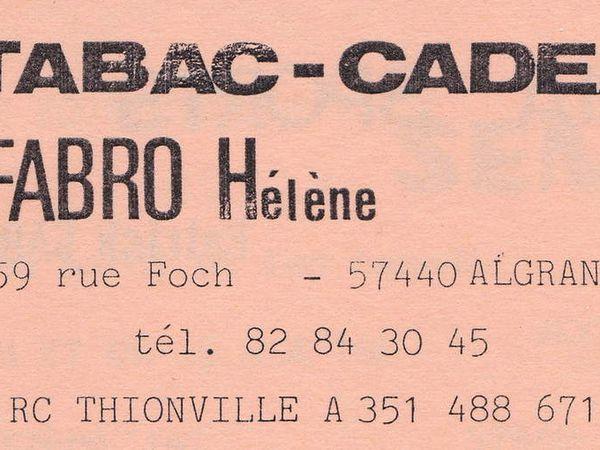 N° 57 et n° 59 rue Foch à Algrange - Habitations - Alimentation - Fleurs - Tabac-Mercerie-Cadeaux - Pompes funèbres