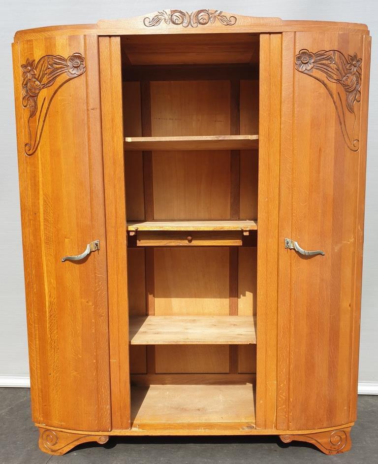 Armoire bibliothèque Art Déco lignes courbes L155 - VENDU