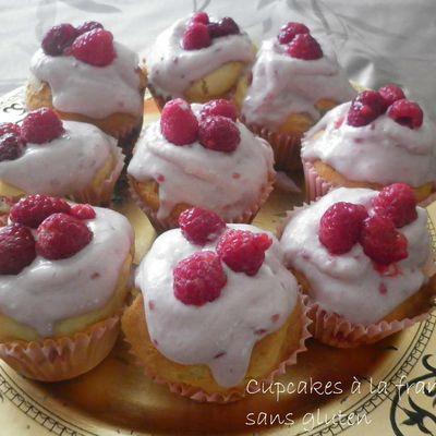 Cupcakes à la framboise sans gluten