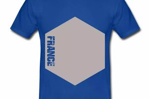 T shirt France Hexagone HBR
