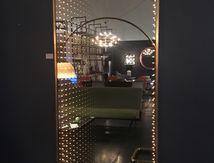 .......................vendu.................Miroir infini italy 1960 laiton