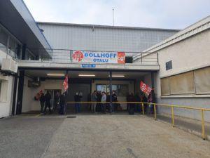 Grève victorieuse à Bollhoff Otalu en Savoie