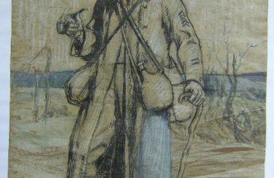 Une peinture d'un soldat en 1916