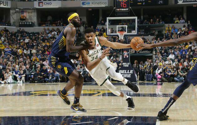 Giannis Antetokounmpo mène les Bucks à Indianapolis