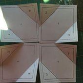 Leaf block - Foundation paper piecing pattern