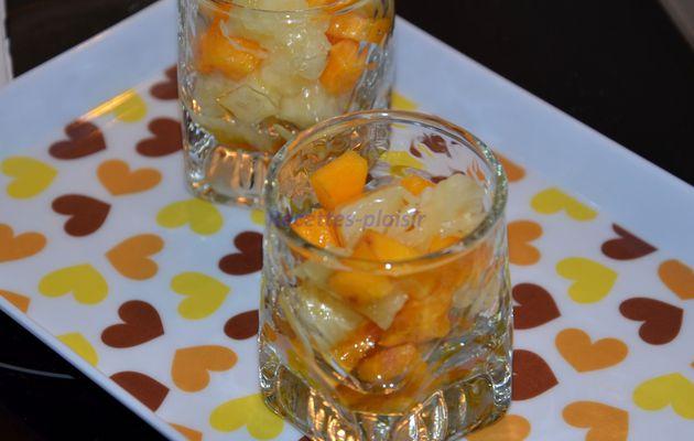 Verrines Kaki / Ananas