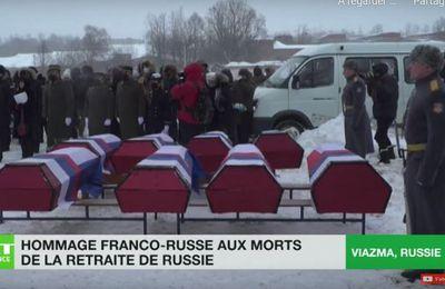 LA RUSSIE REND HOMMAGE AUX MILITAIRES RUSSES ET FRANÇAIS MORTS LORS DE LA RETRAITE DE 1812.