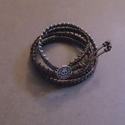 Bracelet wrap 5 tours #2 : antique, bronze