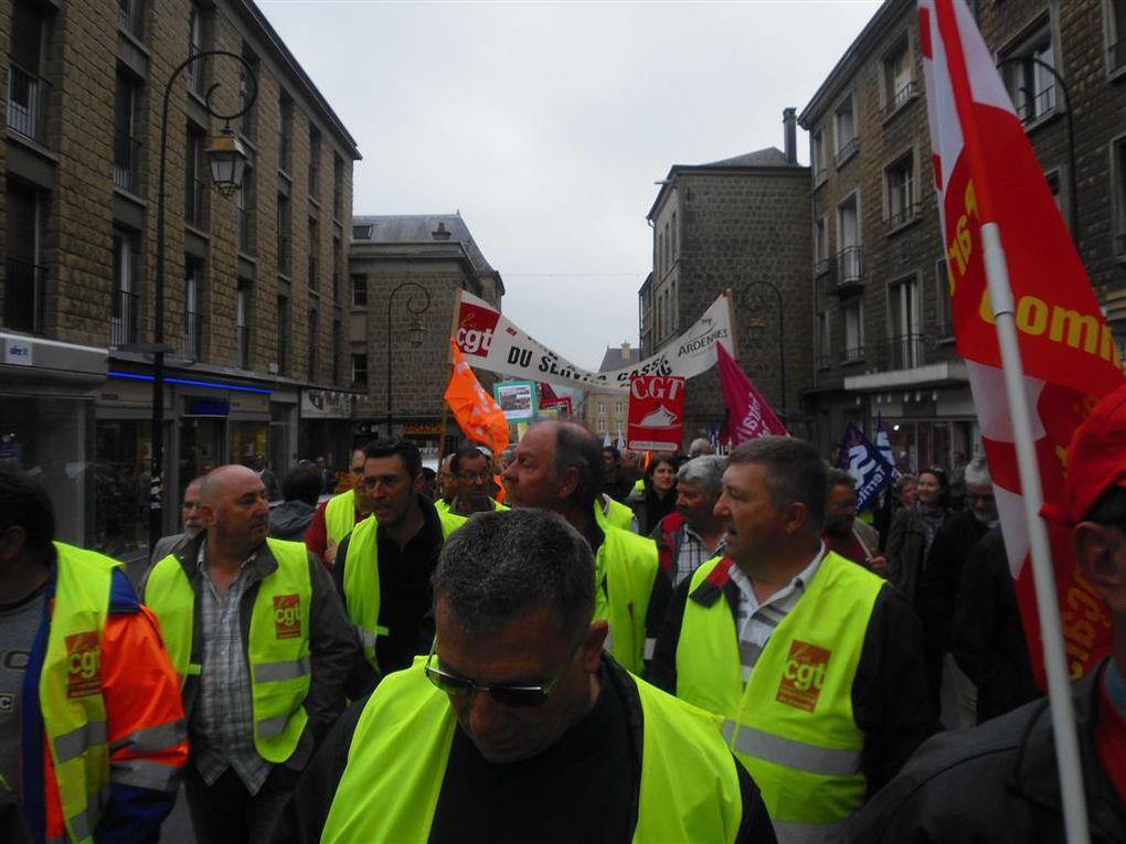 Manifestation pour les retraites, avec la forte participation des agents du Conseil général des Ardennes
