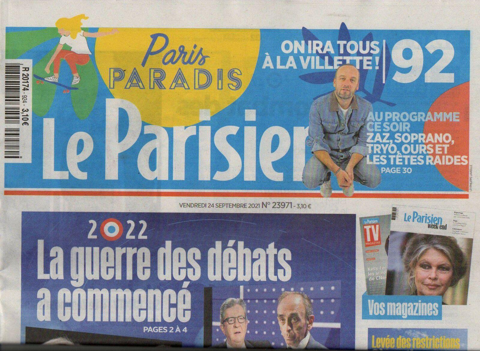 Le Parisien n°20174 du 24 09 2021