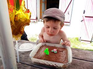 Gustave a eu 4 ans. Bon anniversaire