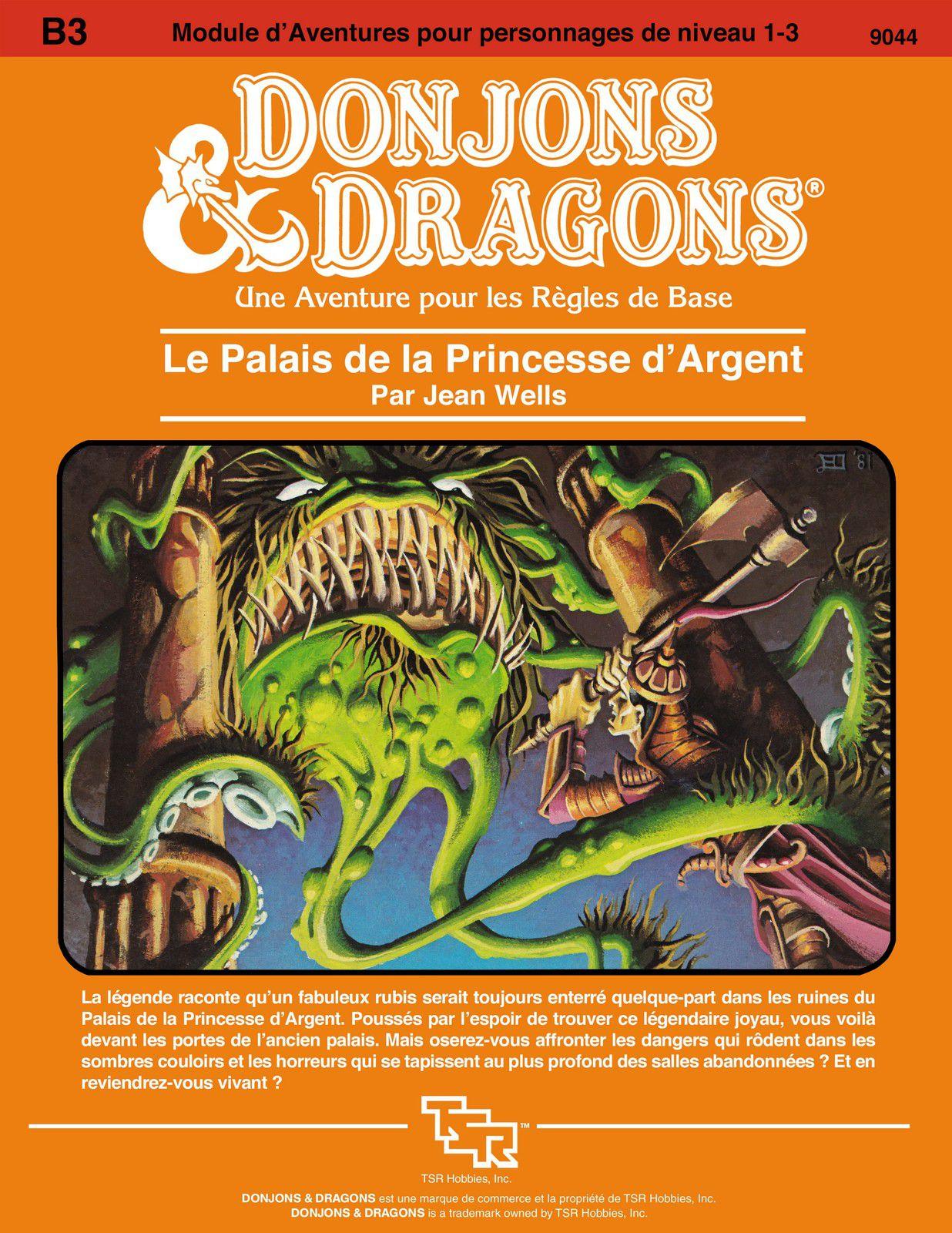 D&D module B3 : Le palais de la princesse d'argent