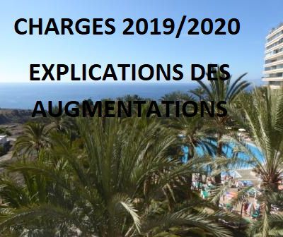 CHARGES 2019/2020  EXPLICATIONS DES AUGMENTATIONS