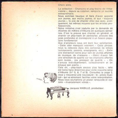 chansons et play-backs de l'Alsacienne - album 5 -196?