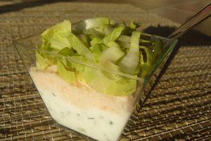 Verrine de saumon fumé au fromage frais