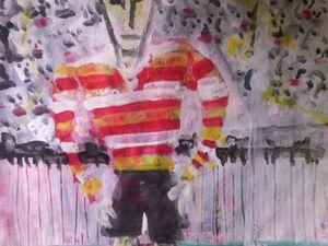 "Uno dei più importanti artisti Australiani, Sidney Nolan: ""Footballer"""