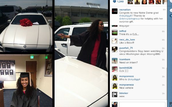 NBB World Wide: Jay-Z's agency buys Skylar Diggins a Mercedes as a graduation present
