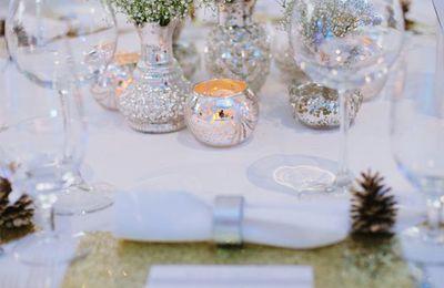 décoration de mariage en hiver ou décor de Noel chic