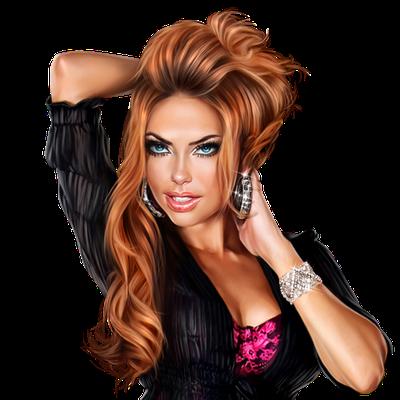 Femme - Rousse - Visage - Regard - Sexy - Render/Tube - Gratuit