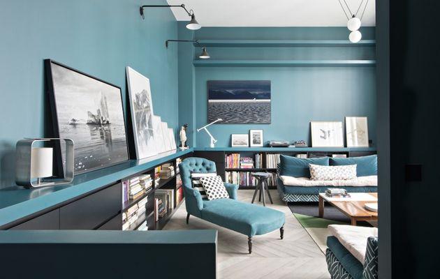 Une maison passionnément bleue
