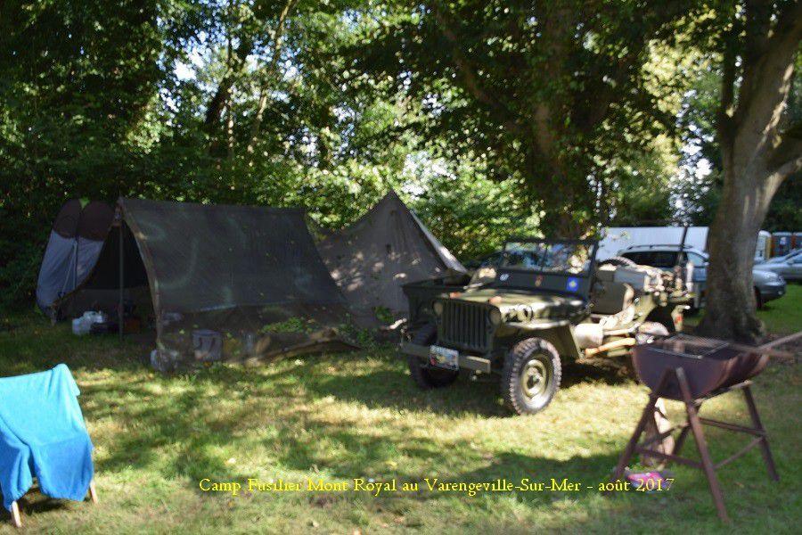 Camp Fusilier Mont Royal au chateau de Varengeville-Sur-Mer - août 2017