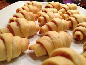 Mini croissants au jambon