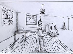 Adolescents - Dessin de perspective