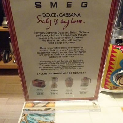 SMEG et Dolce & Gabbana font collection commune