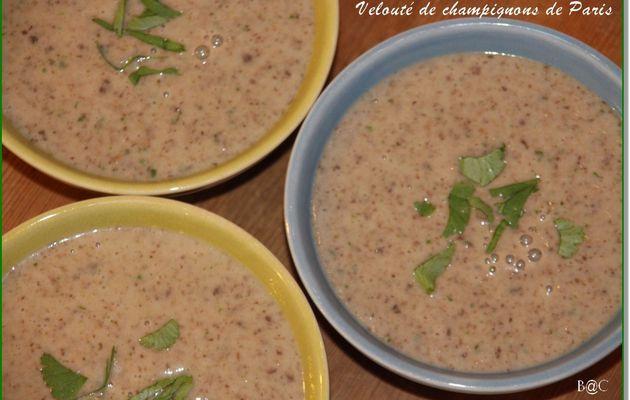 Ma soupe onctueuse aux champignons de Paris