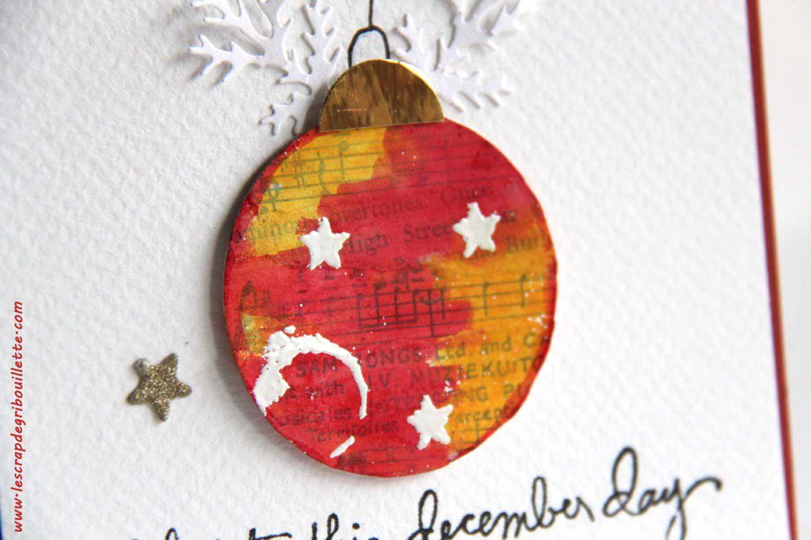 Collage Christmas Ball#Boule de Noël en Collage papiers
