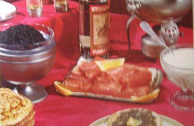 Blinis au saumon et au caviar