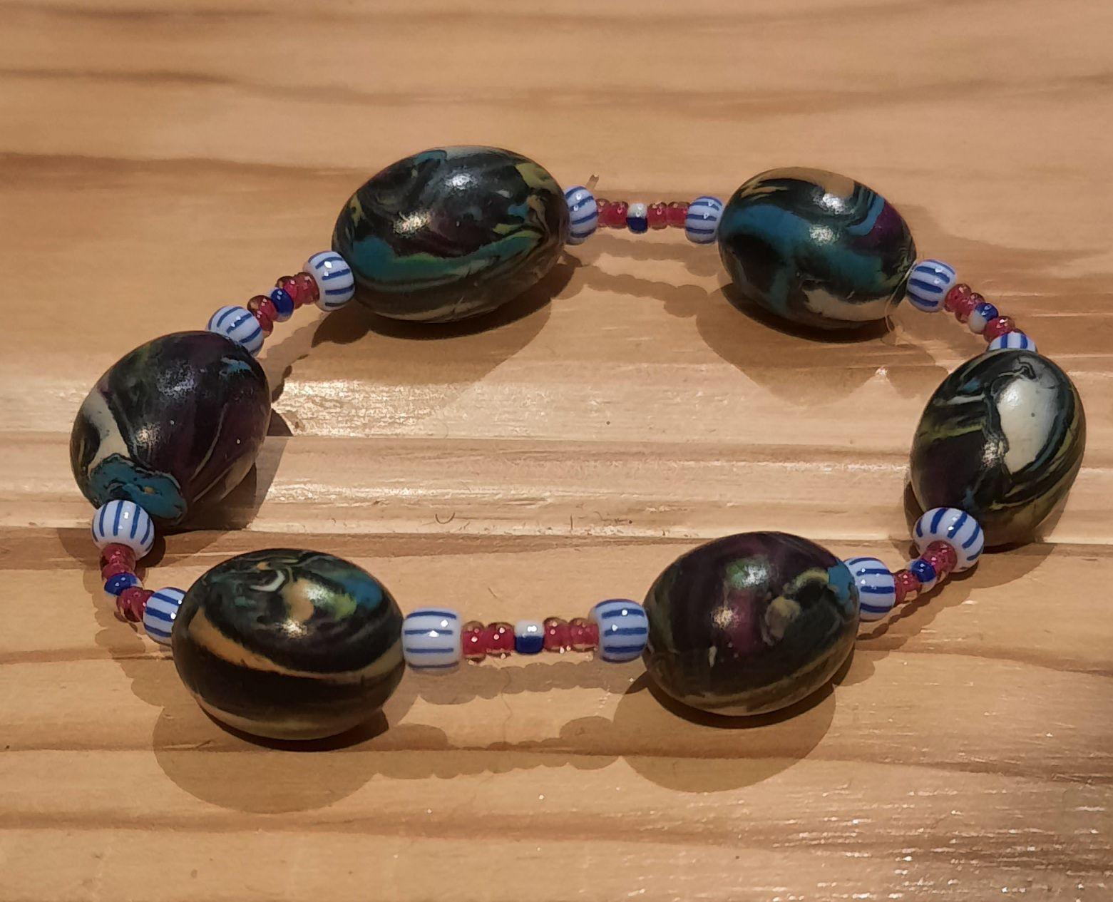 """Bracelet """" ambiance africaine """""""