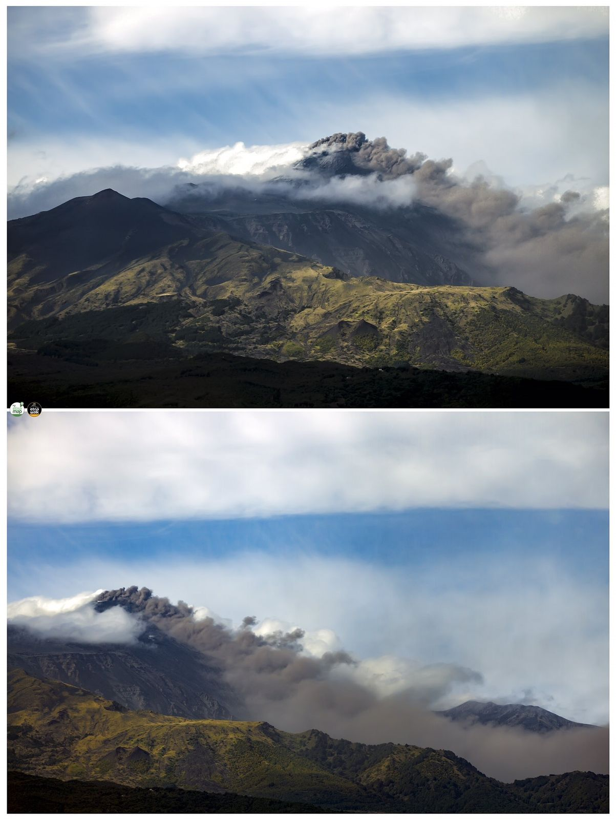 Etna - ash emission at the NSEC on 26.09.2020  - photo EtnaWalk