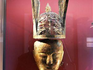 Liao masques funéraires. Musée Cernuschi. Masques dorés de la mort.