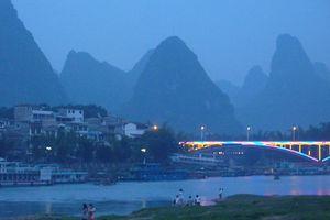 Guangxi (10) ... Les couchers de soleil se suivent, mais...