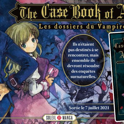 Annonce Soleil Manga : The Case Book of Arne