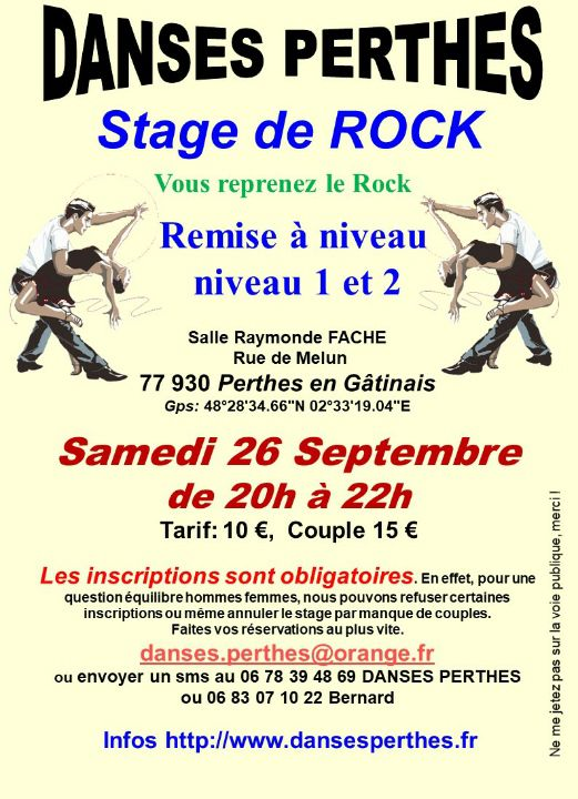 Stage de rock PERTHES EN GATINAIS