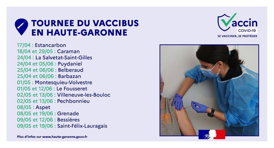 Tournée du vaccibus en HauteGaronne