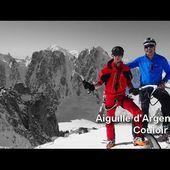 Ski de randonnée : Aiguille d'Argentière couloir en Y - 3901 m - Le Petit Alpiniste Illustré by Apoutsiak