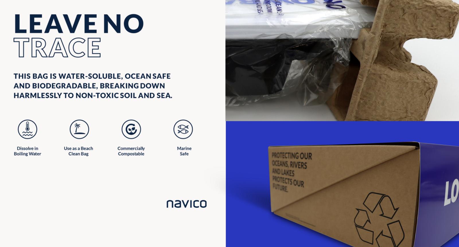 Navico innove dans des emballages 100 % biodégadables