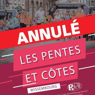 Annulation des ''Pentes & Côtes''