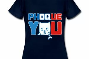 T shirt bleu m femme Phoque you