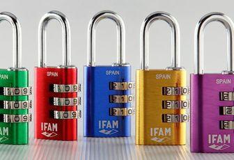 Cadenas à combinaison et à clé (Ifam - Abus Titalium)