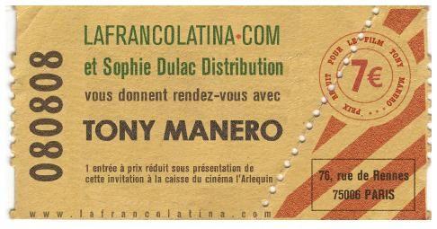 Tony Manero le 17 Février au cinéma l'Arlequin (Paris)