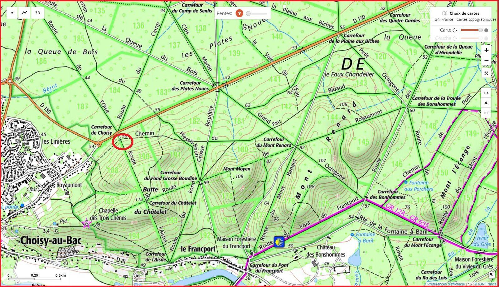 carrefour_Chemin du Fau Bidaud_Route de l'Aisne