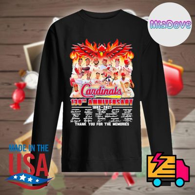 Cardinals 139th anniversary 1882 2021 signatures thank you for the memories shirt