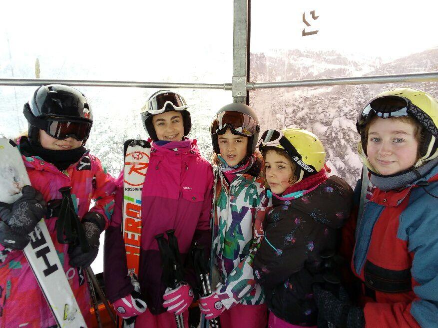 Aujourd´ hui, mercredi, les Thug de la glisse sont allés skier à Risoul, la station voisine.