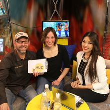 First TV Show for Around The Rock on KMUZ Channel - Kyrgyzstan